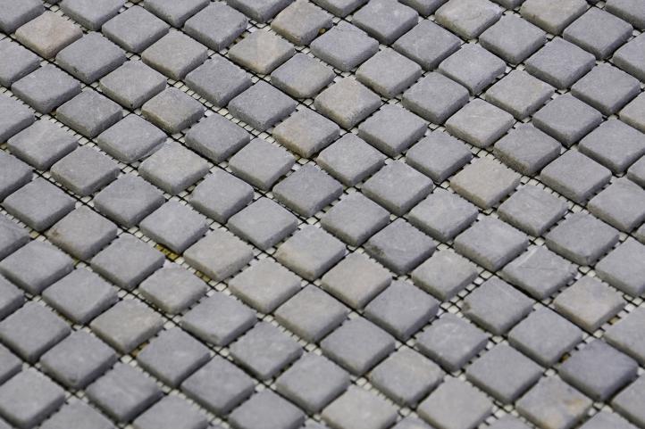 Mramorová mozaika Garth - šedá obklady čtverec 1 m2