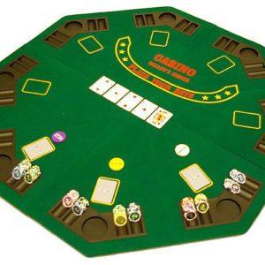 Skládací podložka na poker osmihranná