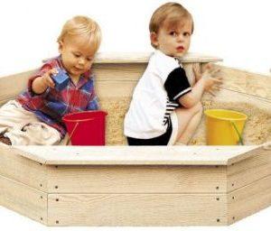 Dřevěné pískoviště pro děti