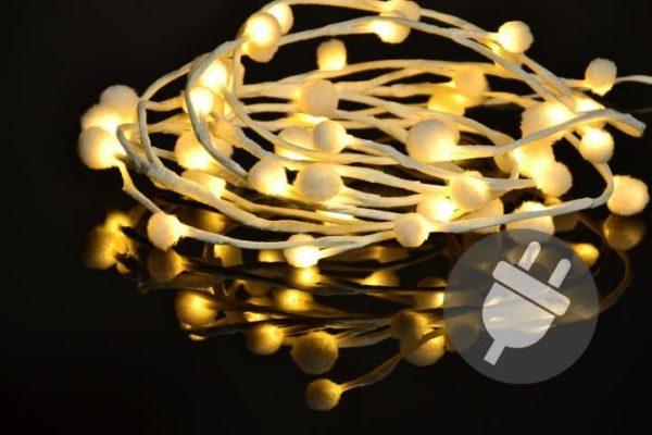 Vánoční LED řetěz - sněhové vločky