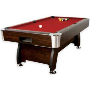 Kulečníkový stůl pool billiard 8 stop - červený