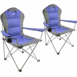 Set skládacích kempingových židlí Divero