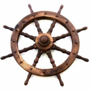 Dřevěná kola a kormidla