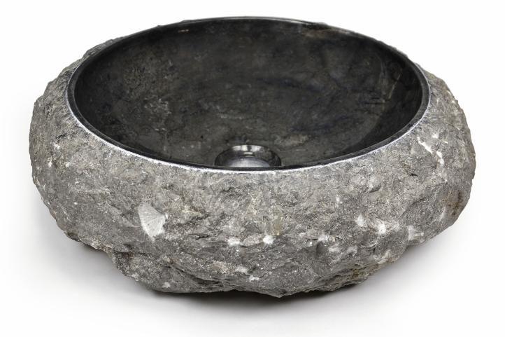 Umyvadlo z kamene DIVERO - černý mramor