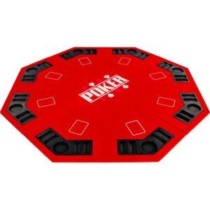 Červená pokerová podložka skládací