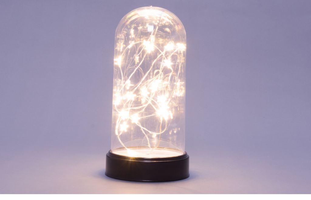 Vánoční svítící dekorace kopule - 20 LED, teple bílá