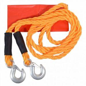 Tažné lano s karabinami - 3,4 metru