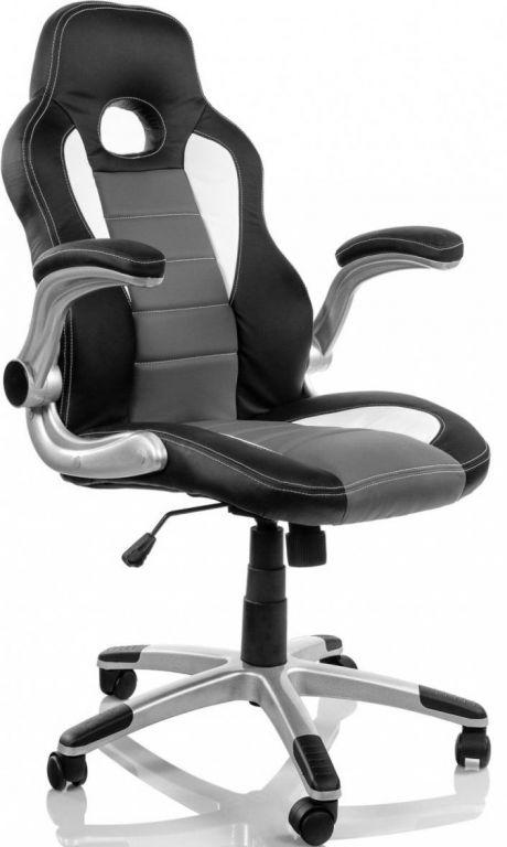 Kancelářské křeslo  Nürburg - racing design černo-šedo-bílá