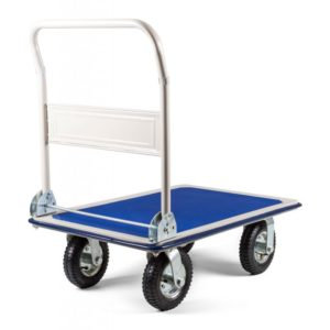 Modrý manipulační plošinový vozík G21