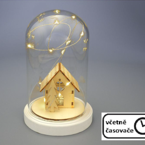 Vánoční kopule dekorace - domek